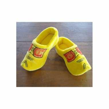 Klompen  Clogs sloffen gele klomp